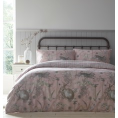 Rabbit Meadow Duvet Set - Blush Pink