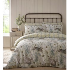Rabbit Meadow Duvet Set - Sage