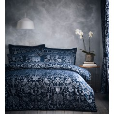 Oak Tree Jacquard Duvet Set - Midnight Blue