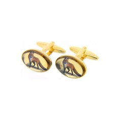 Soprano Pair of Standing Fox Design Country Cufflinks