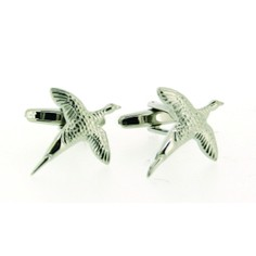 Soprano Pair of 3D Flying Pheasant Country Cufflinks