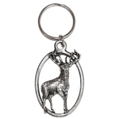 Pewter Stag Key Ring