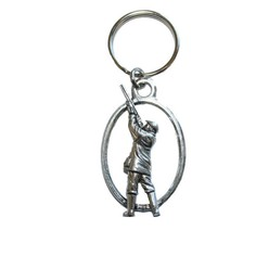 Pewter Shooter Key Ring