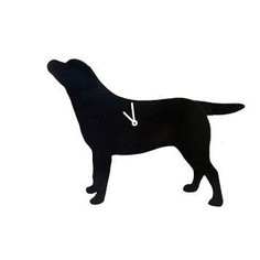 The Labrador Company Black Labrador Wagging Tail Wall Clock