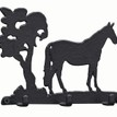 3 Hook Key Rack - Standing horse additional 1