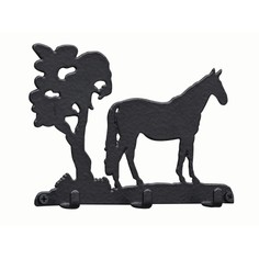 3 Hook Key Rack - Standing horse
