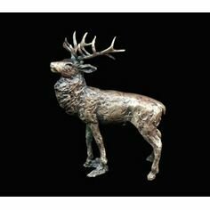 Miniature Solid Bronze Stag