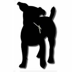 Jack Russell Dog Wall Clock With Wagging Tail