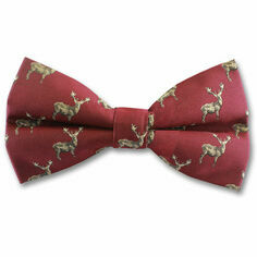 Wine Stag Bow Tie