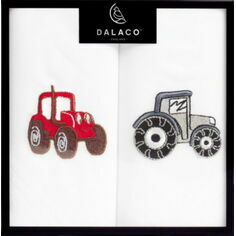 Pair of Embroidered Tractor Handkerchiefs