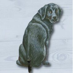 Black Labrador Coat Hook