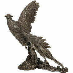Pheasant Breaking Cover Cold Cast Bronze Sculpture
