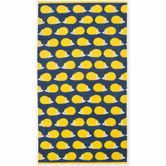 Anorak Kissing Hedgehogs Bath Towel - Yellow/Navy