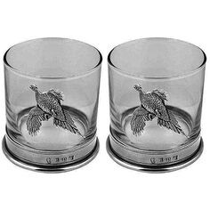 Glass Pheasant Double Tumbler Set