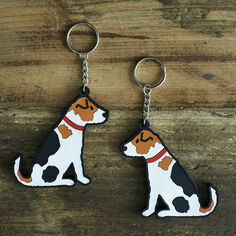 Sweet William Jack Russell Key Ring
