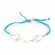 Sterling Silver Snaffle Friendship Bracelet Turquoise