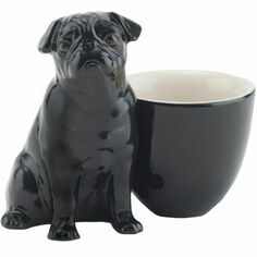 Black Pug with Egg Cup