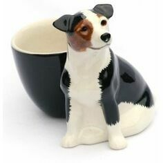 Jack Russell Brown/Black/White with Egg Cup