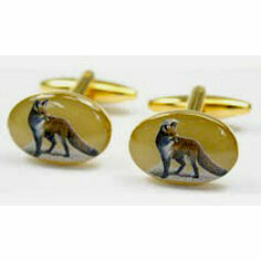 Pair of Standing Fox Design Country Cufflinks