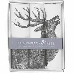 Gift Box Set of 3 Handkerchiefs - Stag