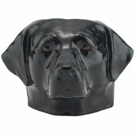 Black Labrador Face Egg Cup
